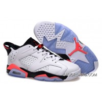 Air Jordan 6 Retro Low White/Infrared 23-Black Free Shipping
