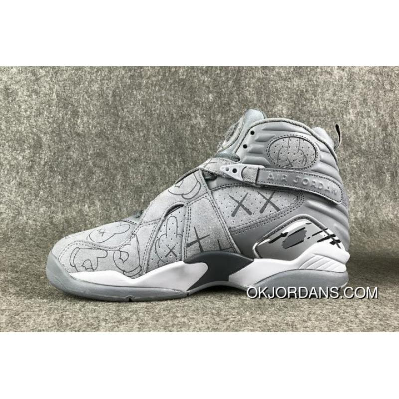 detailed look d36ca 18cf5 To KAWS Air Jordan 8 Custom Cool Grey For Sale