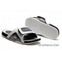 Jordan Hydro 13 Slide Sandals White Black Blue New Release