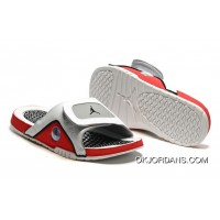 Jordan Hydro 13 Slide Sandals White/Black/True Red/Cement Grey Super Deals