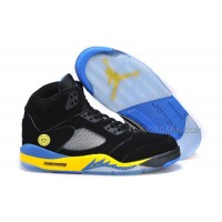"Air Jordan 5 (V) Retro ""Shanghai Shen"" Black/Varsity Maize-Varsity Royal"