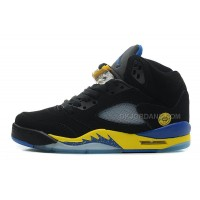 "Air Jordan 5 Retro ""Shanghai Shen"" Black/Varsity Maize-Varsity Royal-Black For Sale"