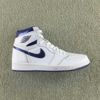 Air Jordan 1 Retro High OG 'METALLIC NAVY' 555088-106 Men And Women Size Basketball Shoes