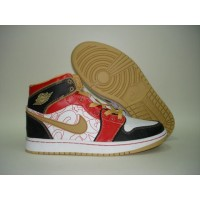 Air Jordan 1 Retro China Xq White Gold Dust Sport Red Black