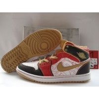 Air Jordan 1 White Gold Dust Sport Red Black