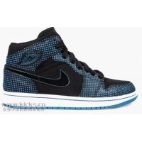 Air Jordan 1 Black Lacer Blue White