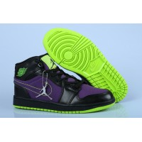 Air Jordan 1 High Black Purple Volt