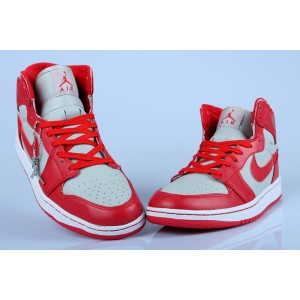 Air Jordan 1 High Red Grey White