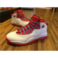 Air Jordan 10 Retro Chicago Flag WHITE/UNIVERSITY BLUE-BLACK-BRGHT CRMSN 310805-114