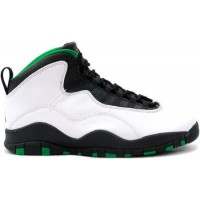 Air Jordan 10 Original Seattle Supersonics White Black Green