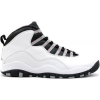 Air Jordan 10 Retro White Black Light Steel Grey Varsity Red