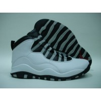 Air Jordan 10 White Black Steel