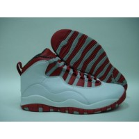 Air Jordan 10 Retro White Red Steel Grey