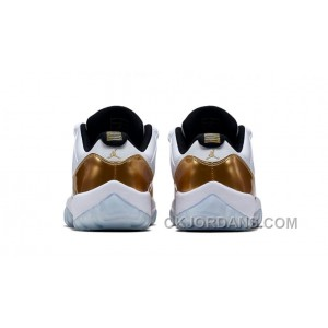 "Air Jordan 11 Retro Low ""Closing Ceremony"" White/Metallic Gold Coin-Black 528895-103"