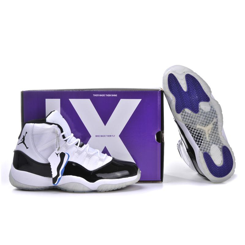 huge discount 88a38 0579b Jordan 11 Concords White Black Dark Concord