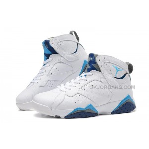 Discount Jordan 7 Remastered White French Blue University Blue Flint Grey