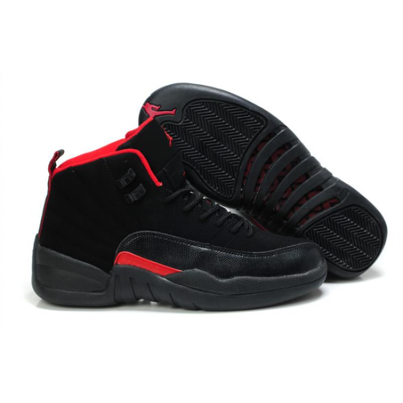 best authentic c8915 eb95d Air Jordan 12 Retro Nubuck GS Black Siren Red