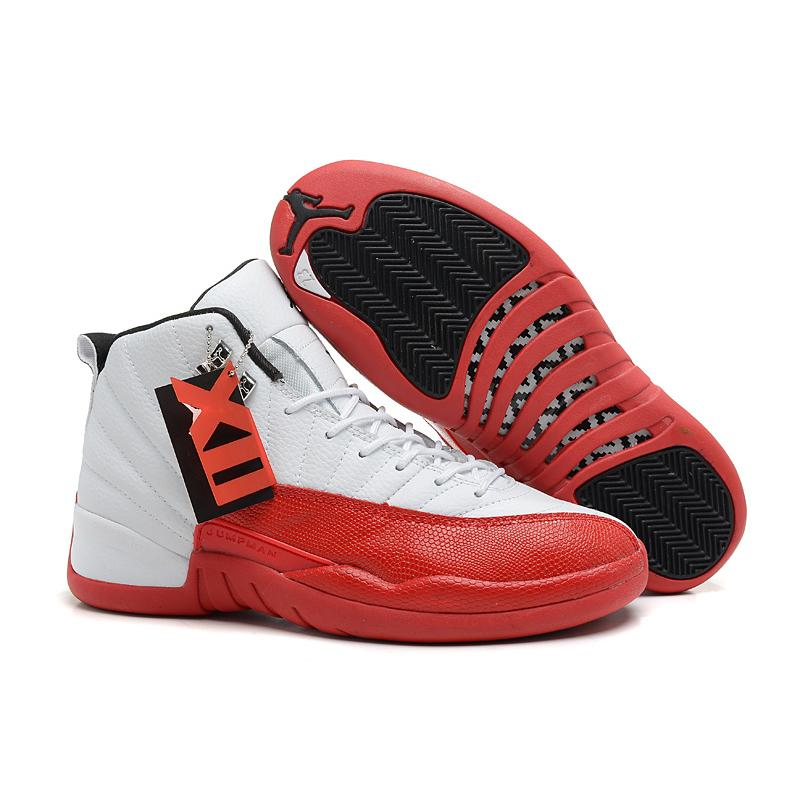 online retailer 74d6f d69a2 Air Jordan 12 White Varsity Red Black