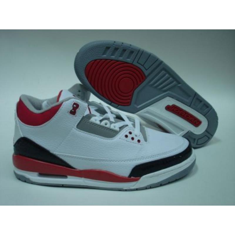 brand new 178ad cd2d5 Air Jordan 3 White Fire Red Cement Grey