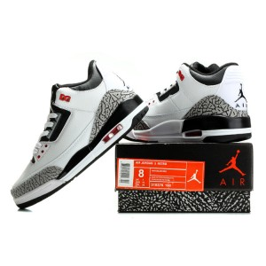 Air Jordan 3 Retro White Black Wolf Grey Infrared