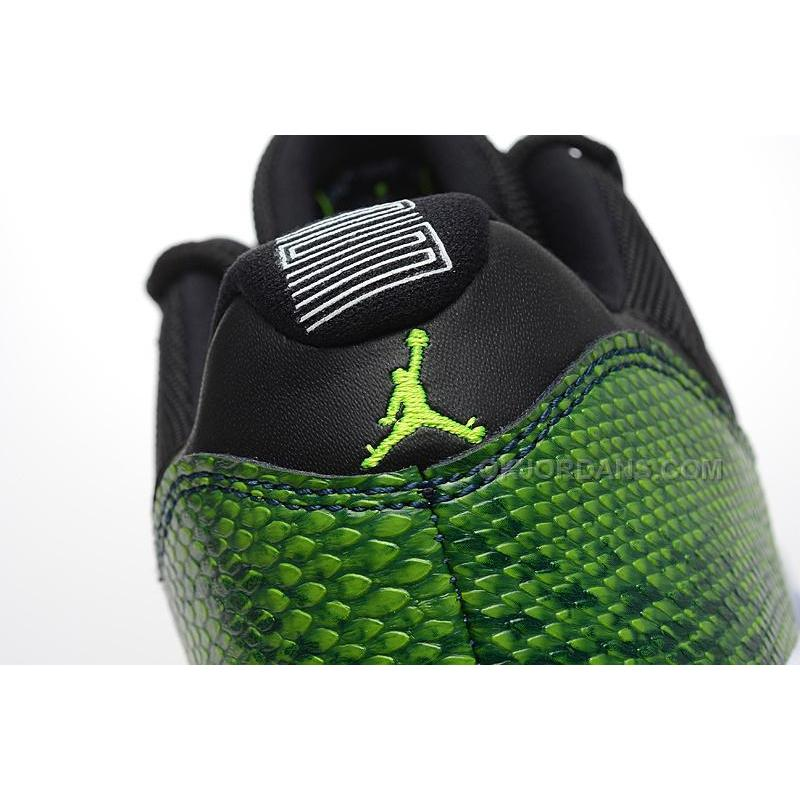 ... Air Jordan 11 Low Green Snakeskin Black Nightshade White Volt Ice Shoes  ... 681092e88