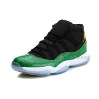 Air Jordan Shoes 11 High State Green Snakeskin Black Nightshade White Volt Ice