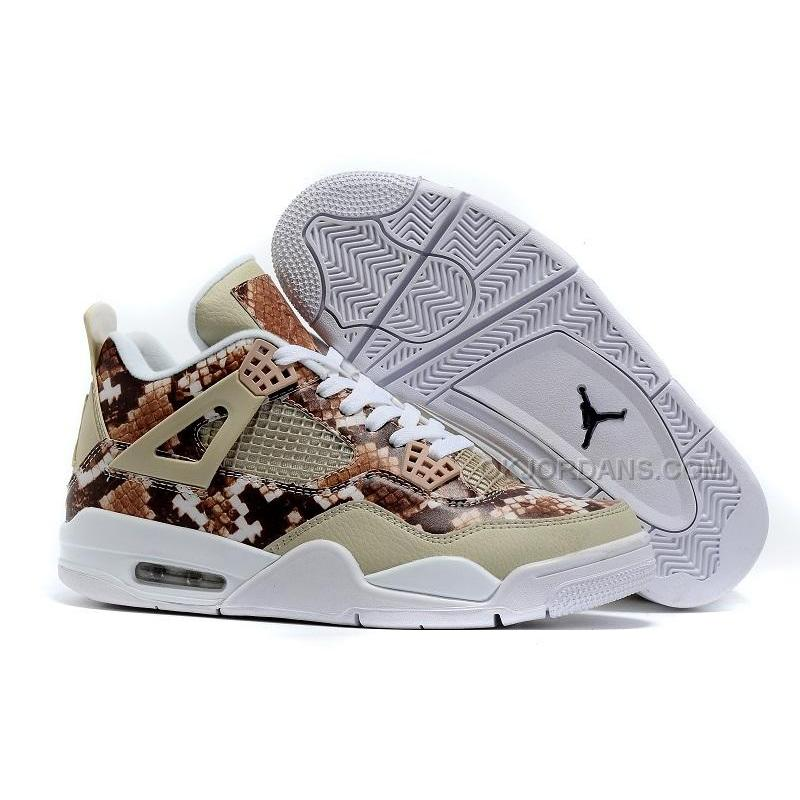 cce21813796 Jordan 4 Pinnacle Snakeskin Brown White, Price: $94.00 - Jordan ...