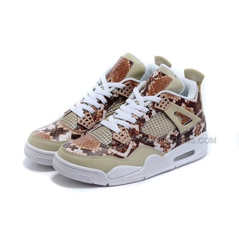 new product 9e632 08b56 Jordan 4 Pinnacle Snakeskin Brown White