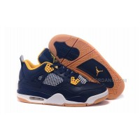 Nike Air Jordan 4 IV Dunk From Above Mens Basketball Shoes 30th Midnight Navy Metallic Gold Retro Sneakers