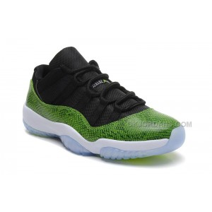 "Air Jordan 11 (XI) Retro Low ""Green Snakeskin"" Black/Nightshade-White-Volt Ice"