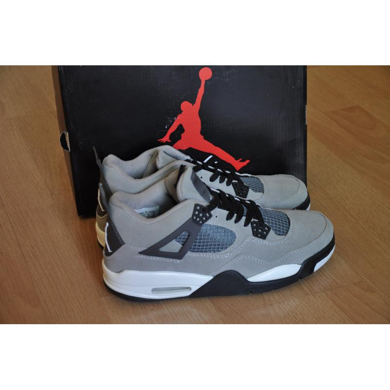 sale retailer 26f59 a86a5 Air Jordan 4 Suede Grey Yellow