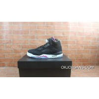 Air Jordan 5 Black And Pink GS Deadly Pink440892-029 Discount