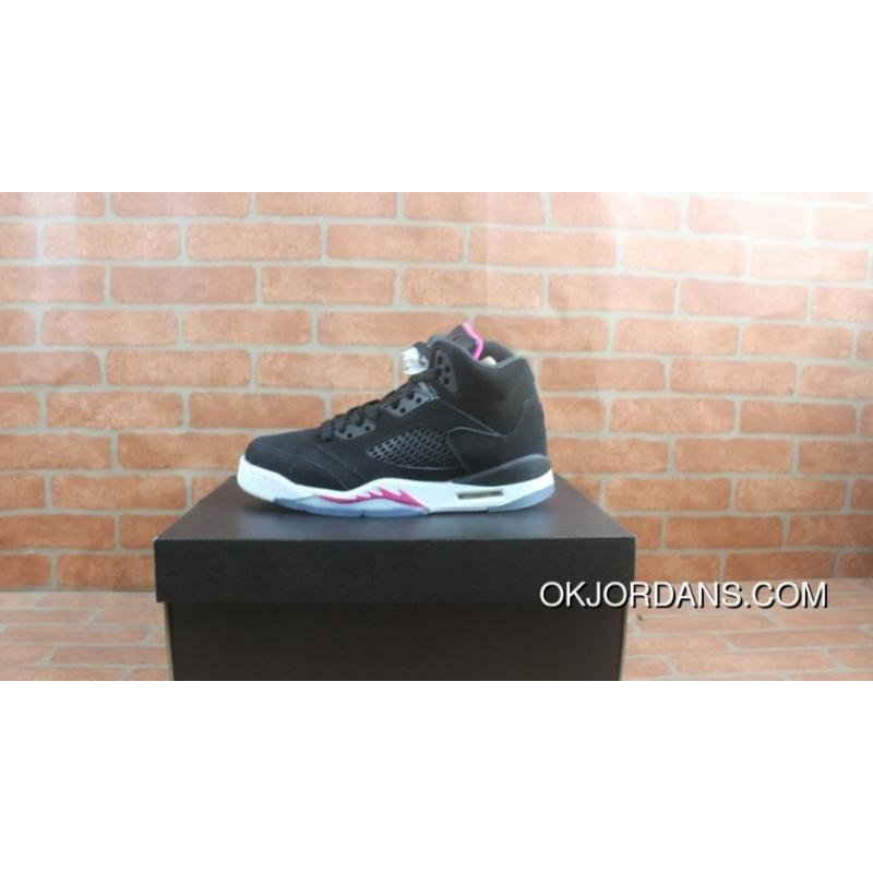 new styles 6efb5 ccf1e USD  87.81  245.87. Air Jordan 5 Black And Pink GS Deadly Pink440892-029  Discount ...