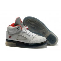Air Jordan 5 Force Light White Varsity Red