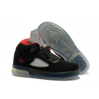 Air Jordan 5 Force Light Black Varsity Red