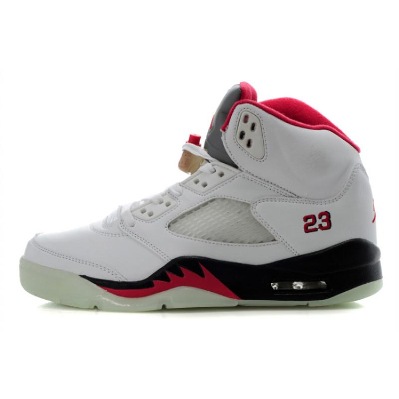 finest selection 5f95c d89d6 Air Jordan 5 Glow In The Dark White Black Fire Red