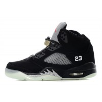 Air Jordan 5 Glow In The Dark Black Silver