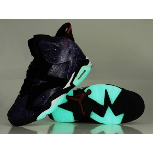 Air Jordan 6 Glow in The Dark Black White
