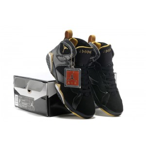 Air Jordan 7 Black Metallic Gold
