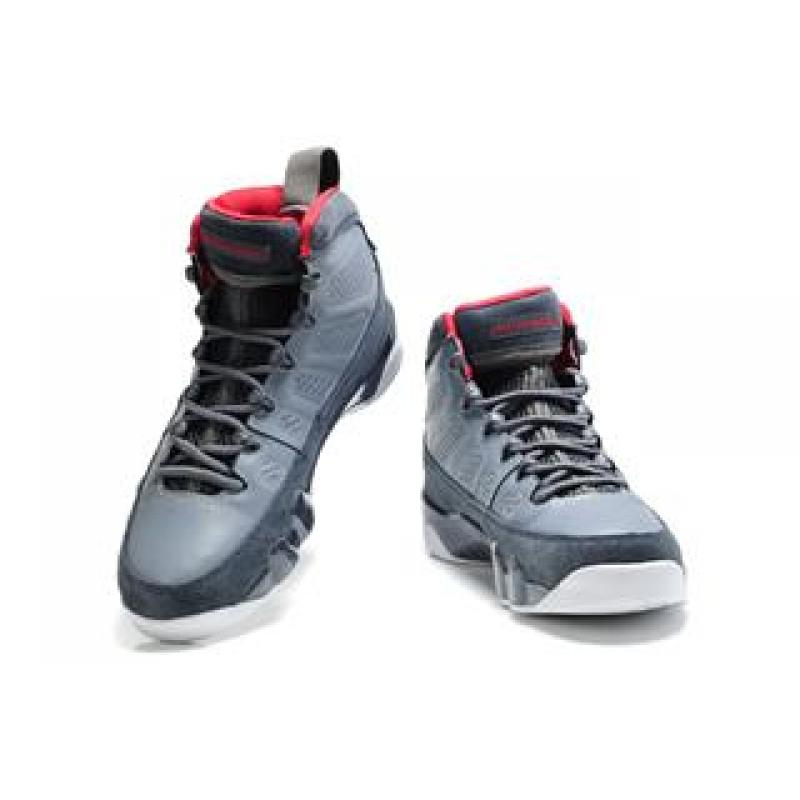 online store 0eba1 86440 ... Air Jordan 9 Suede Medium Grey White Red ...