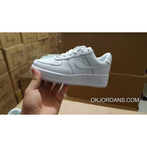 Kids Nike Air Force 1 Af1 Kids Black Shoes All White New Release