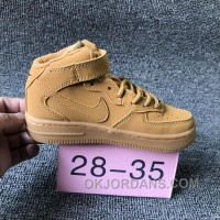 NIKE AIR FORCE 715889-200 Kids Preschool AF1 Wheat Children New Style TMtP3Wm