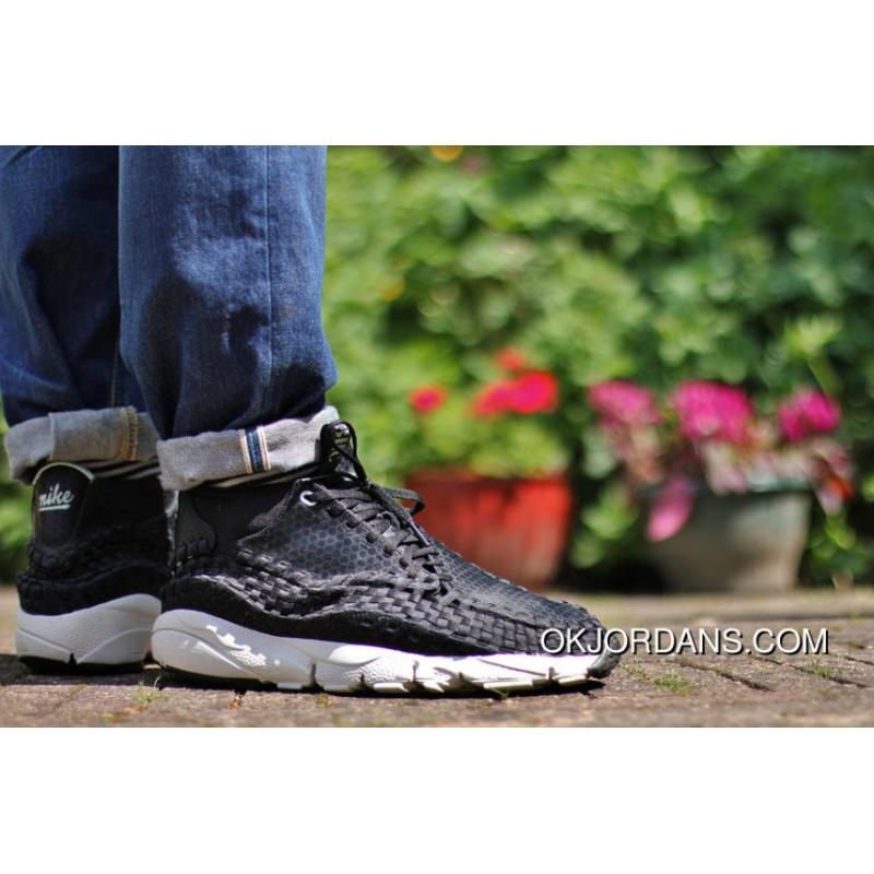 new style b1169 f2812 Nike Air Footscape Woven Chukka 3HC 443686-001 Black Men Top Deals ...