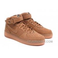 Nike Air Force 1 Mid FLAX 715889-200 Mens 2016 Free Shipping