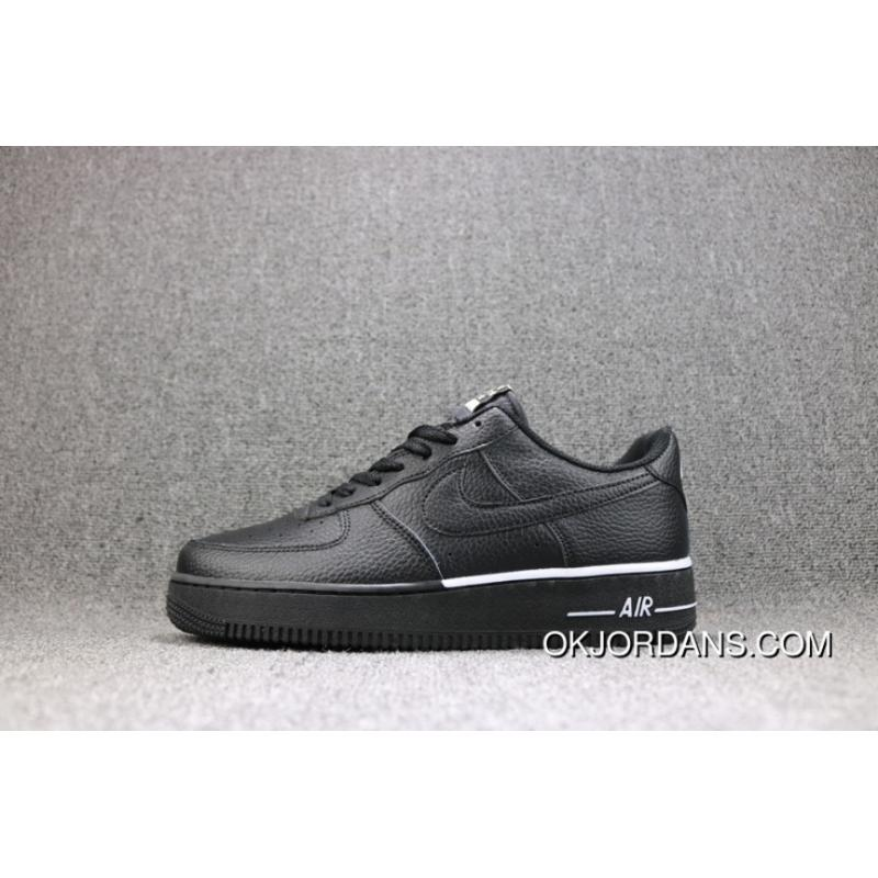 huge selection of 2d80f ab153 Nike Air Force 1 One Black Low Litchi Grain Leather Sneakers Women Shoes  And Men Shoes New Release