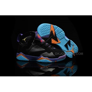 Nike Air Jordan 7 VII GS Lola Bunny Black Bright Citrus Court Purple Light Retro Kids Shoes 753350 007