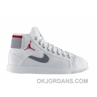 Air Jordan Sky High Canvas White Varsity Red Cement Grey 407282-101 For Sale
