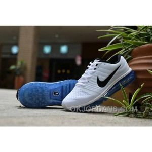 Authentic Nike Air Max 2017 White Black Royal Blue Cheap To Buy TbHyh4