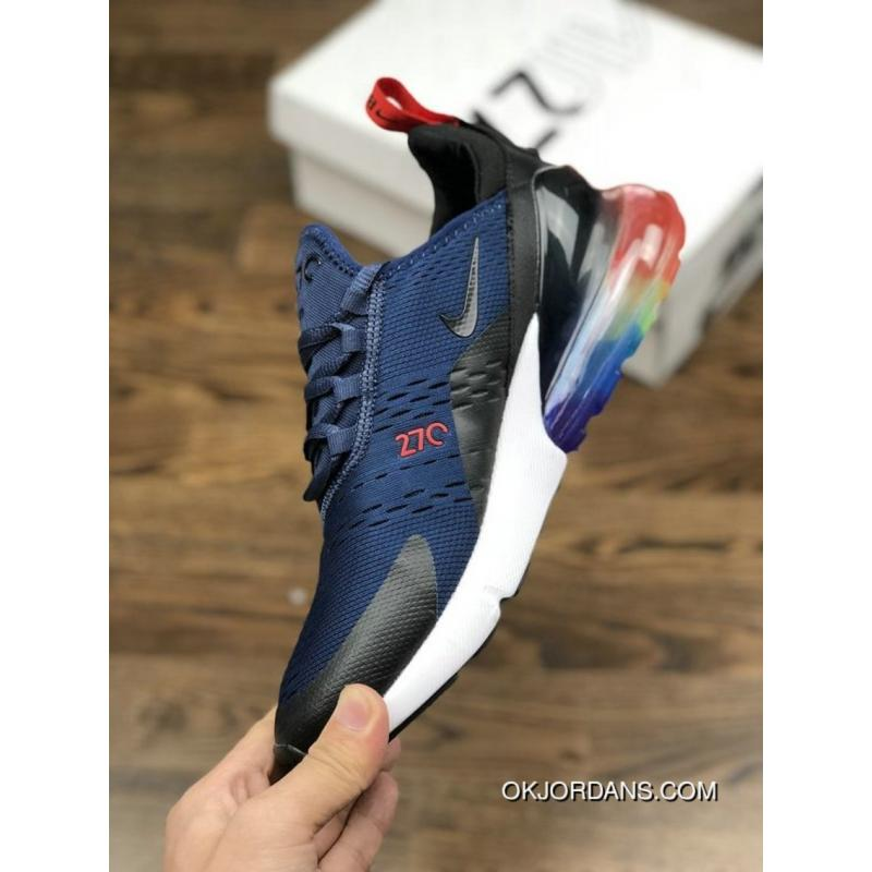 680155e311 ... Nike Air Max 270 Betrue After Half-palm As Jogging Shoes White Black  Gradient Blue ...