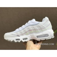 Nike Air Max 95 Release Date May 2018 Style Code AQ4138-100 White Rainbow Limited Women Best